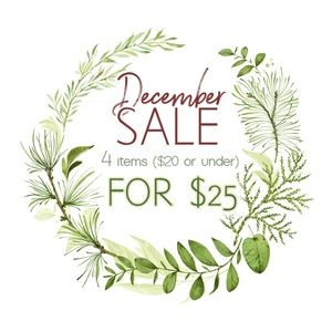 DECEMBER (End of Year) SALE!!!!!!!